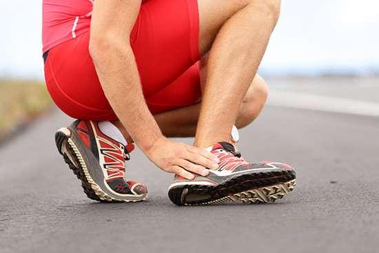 Dolor pie de deportistas