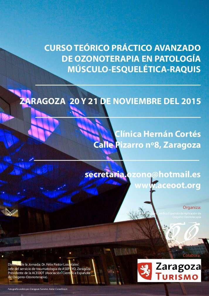 Curso de Ozonoterapia en ZRAGOZA